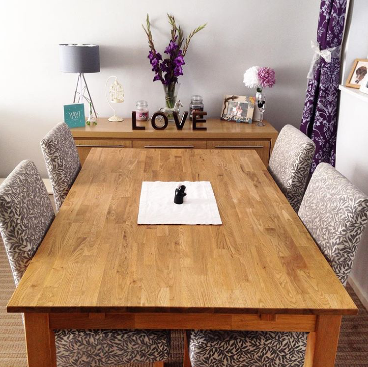 Oakdale Natural Solid Oak Dining Table from