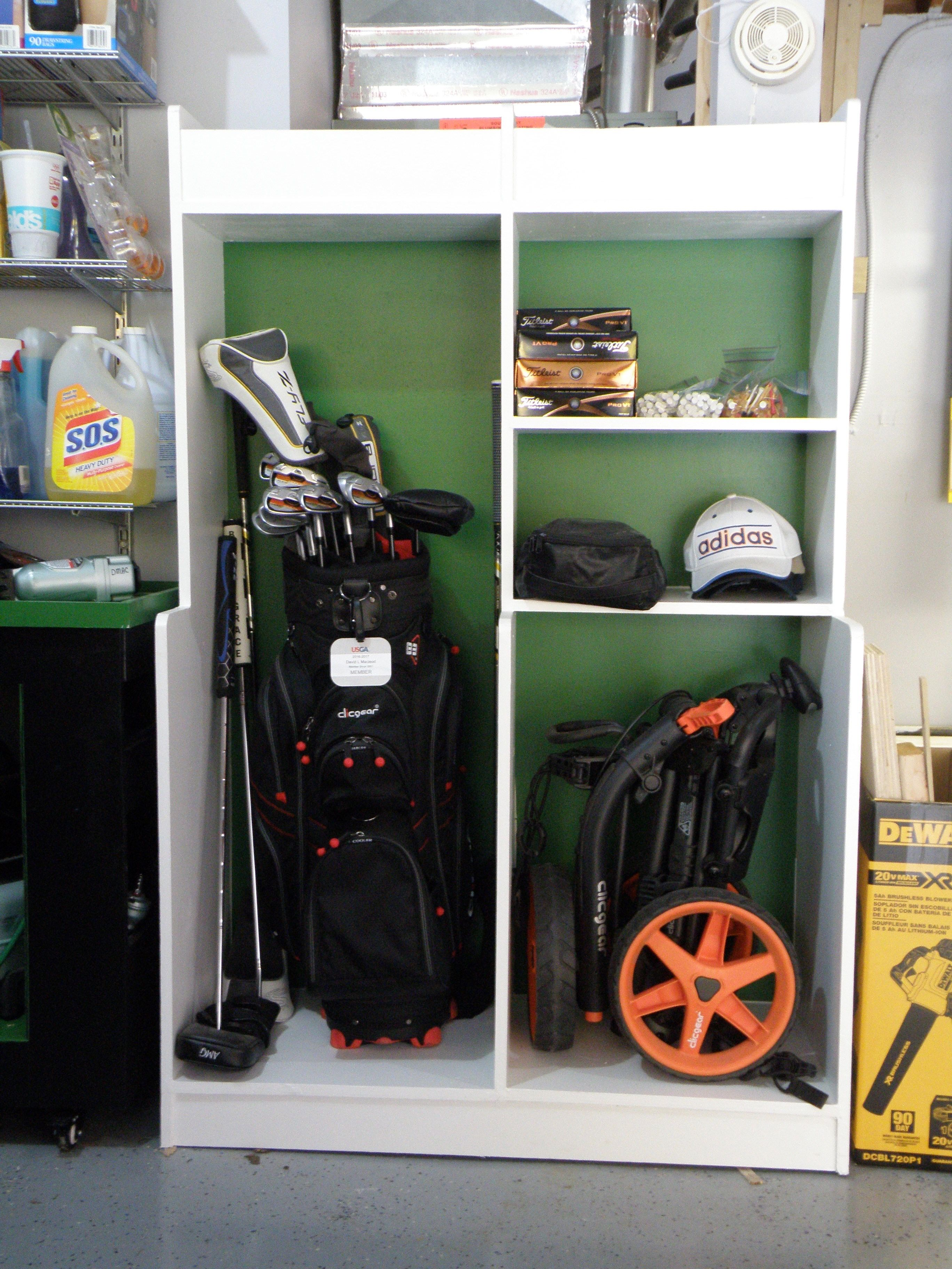 Golf Equipment Storage Ideas