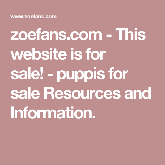 Zoefanscom This Website Is For Sale Puppis For Sale Resources