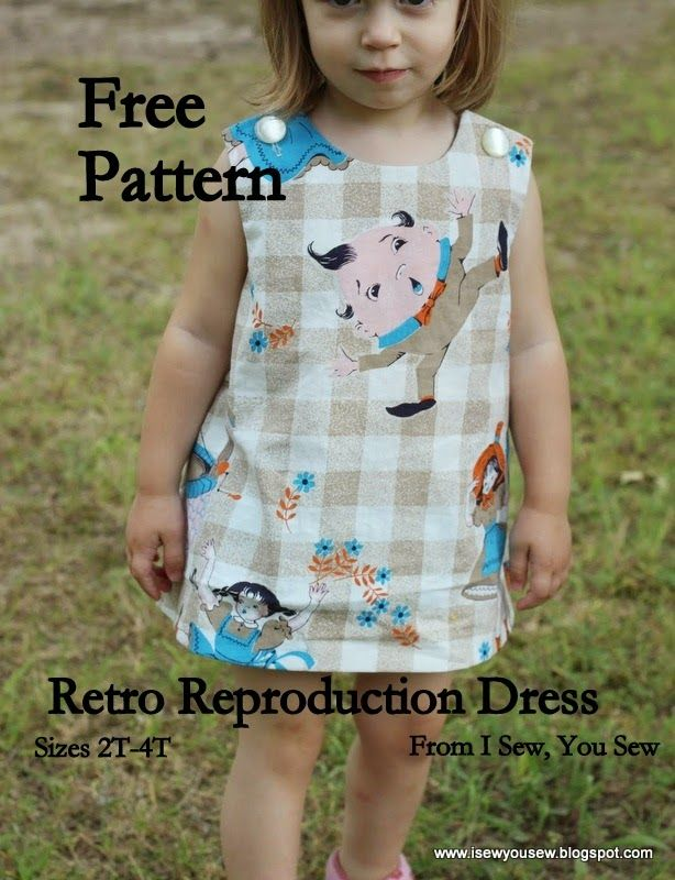 I Sew, You Sew: Retro Reproduction Dress FREE Pattern and Tutorial ...