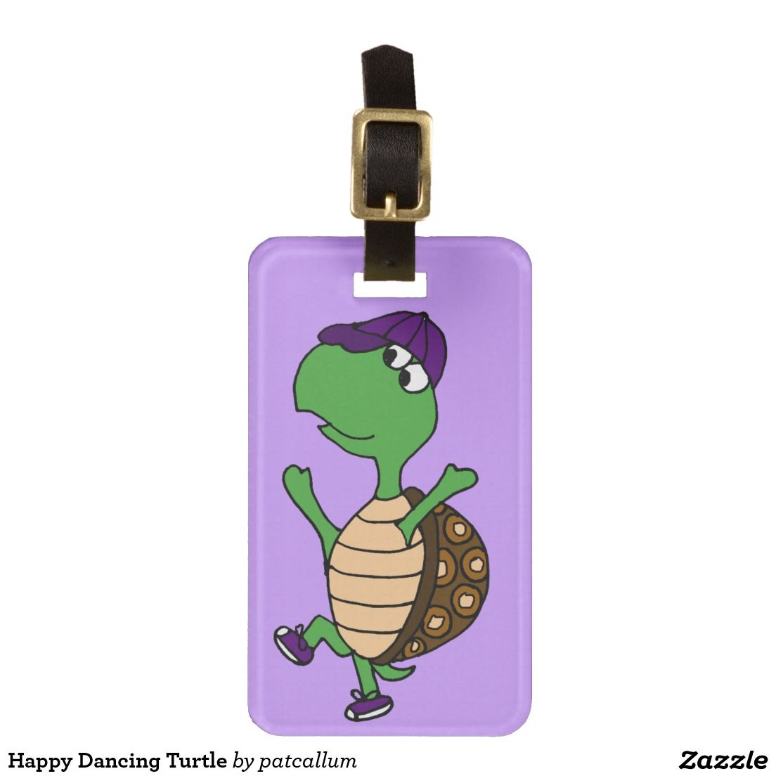 Happy Dancing Turtle Luggage Tags Bag Tags Luggage Tags Funny Luggage Tags