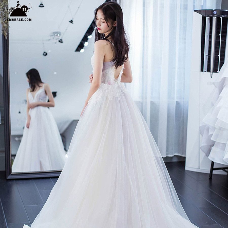 Only colored wedding dresses fairy princess vneck long