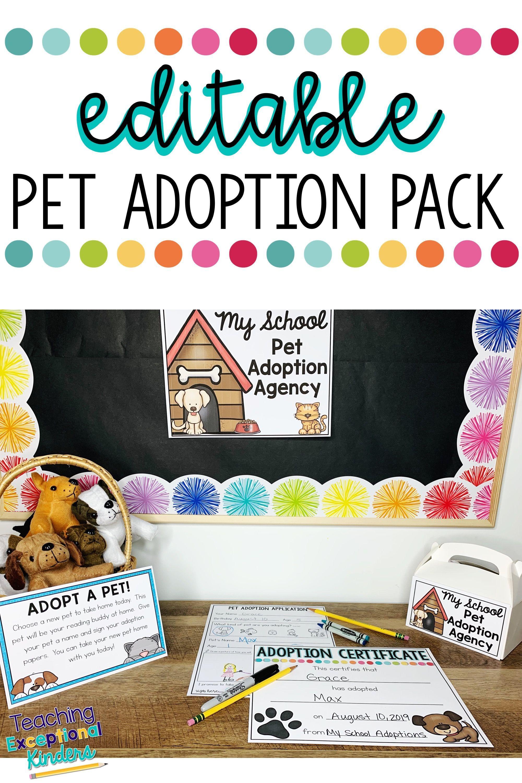Adopt A Pet Reading Buddy Pretend Pet Adoption Pack For Open House Pet Adoption Certificate Adoption Pet Adoption