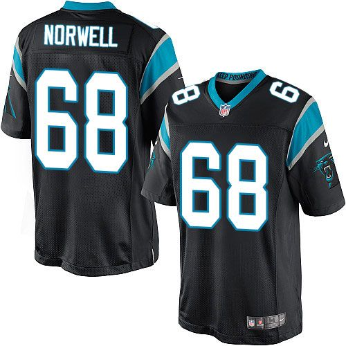Nike Limited Andrew Norwell Black Men's Jersey - Carolina Panthers #68 NFL Home