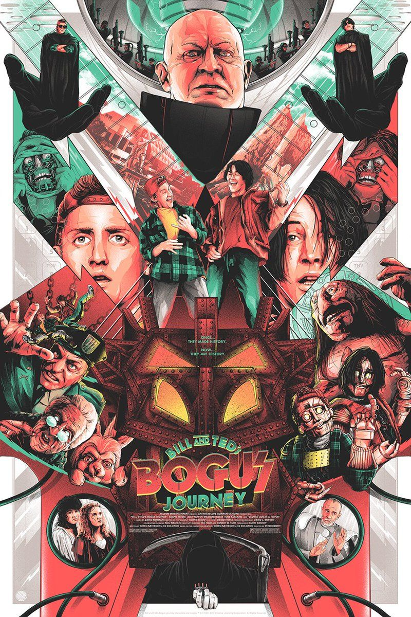 Bill Ted S Bogus Journey By Matt Ryan Tobin Twitter Facebook Instagram Store 24 X 36 Official Movie Posters Alternative Movie Posters Movie Artwork