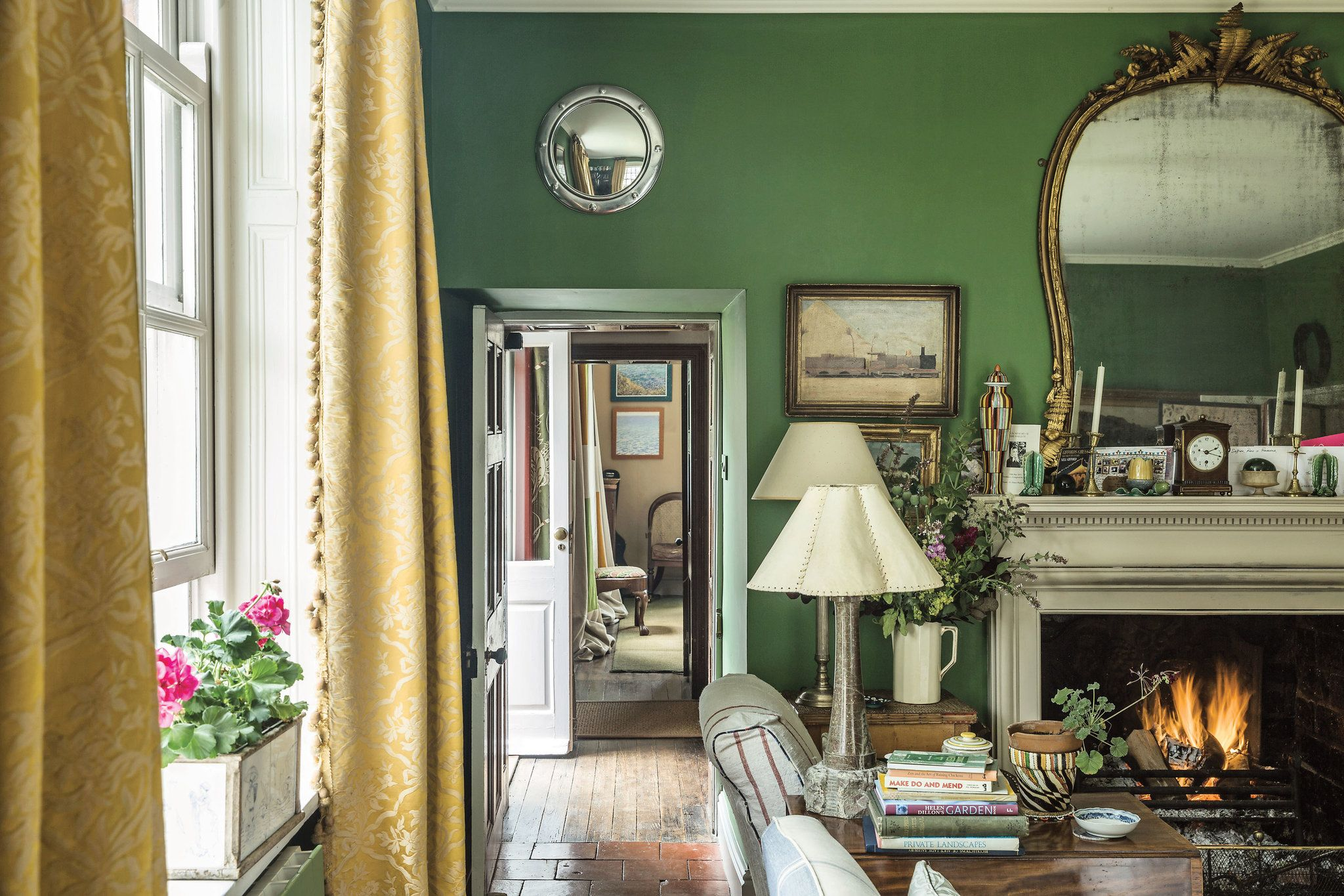 Lady Of The Valley Jane Ormsby Gore S Home Home Green Rooms Cool Rooms