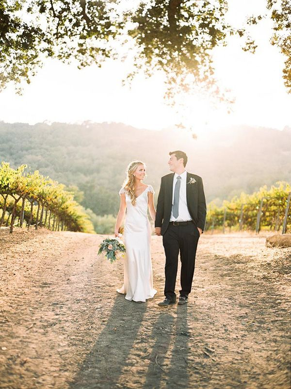 Magic Hour Portraits for a Winery Wedding | Danielle Poff Photography | Natural Elegance at a Southern California Vineyard