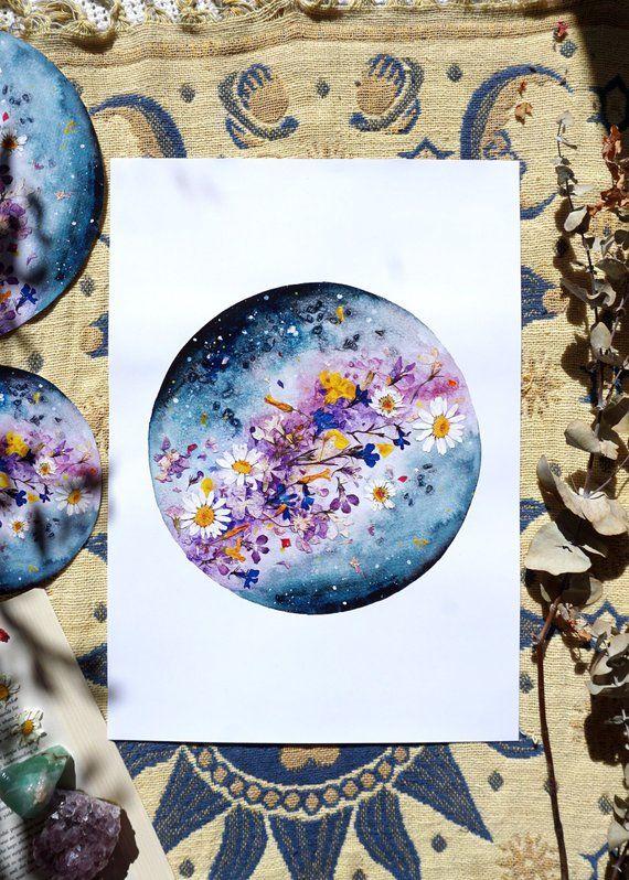 Blumenplanet, Mondkunst, Luna