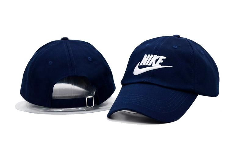 Men's / Women's Nike Futura True Iconic Logo Curved Dad Hat - Blue / White