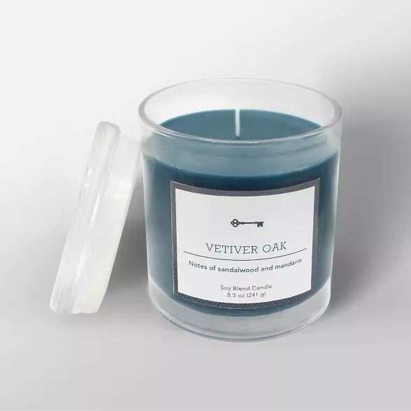 8 5oz Glass Jar Candle Vetiver Oak Threshold Target Candle Jars Glass Jar Candles Candles
