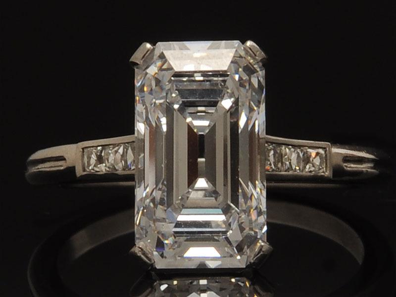 3e9c0c5ba Antique Tiffany & Co. 1920's Deco Platinum and Diamond Engagement Ring - amazing  emerald cut!