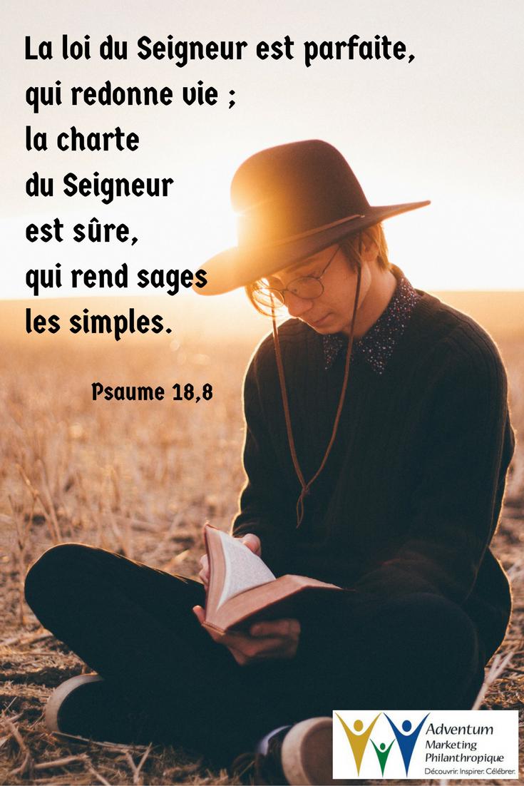 28 juillet 2017 – Psaume 18,8