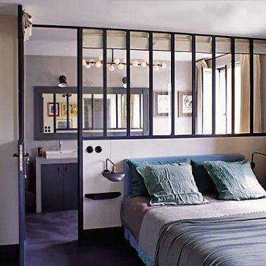 une suite parentale moderne avec verrière atelier | bedrooms