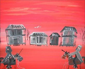 "Lynn Pickering  ""Which Bank?""  2006  Acrylic on Canvas (Australia)"
