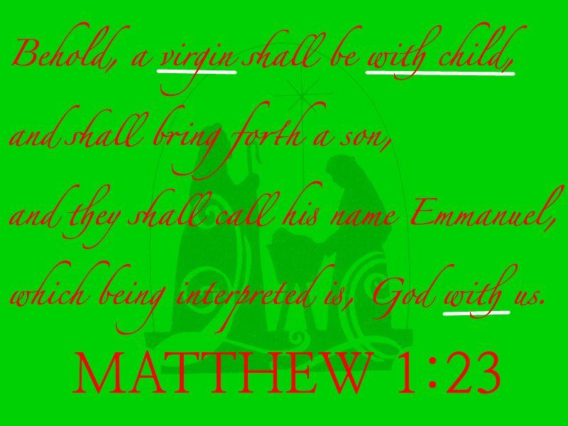 The Reason for The Season.  Matt1:23