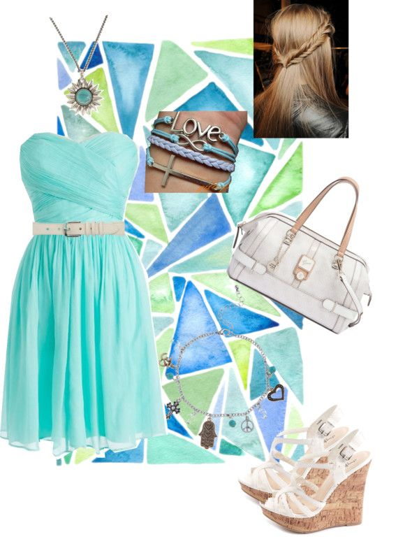 """""""Turquoise Dress"""" by ljonesey ❤ liked on Polyvore"""
