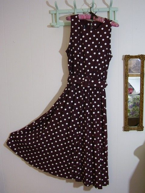 Brown and White Polka Dot dress Julia Roberts Pretty Woman Polo Game.   29.95 1ee0563d4