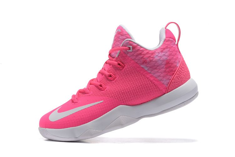 separation shoes 765f1 cdce3 2017 April New Arrival Nike LeBron Ambassador 9 IX Aunt Pearl Pink Flash  Cheap - Click Image to Close