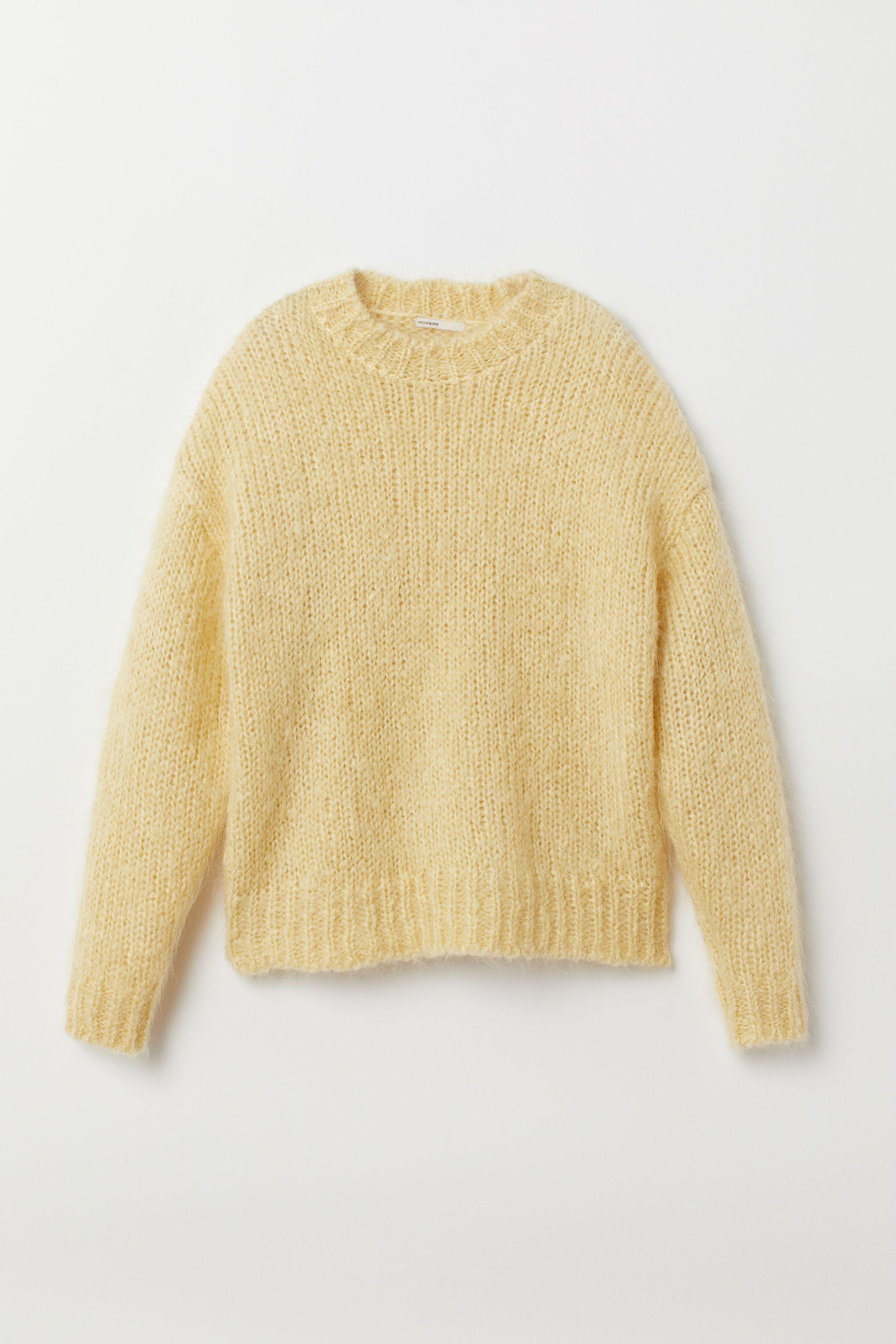 Knit Mohair,blend Sweater