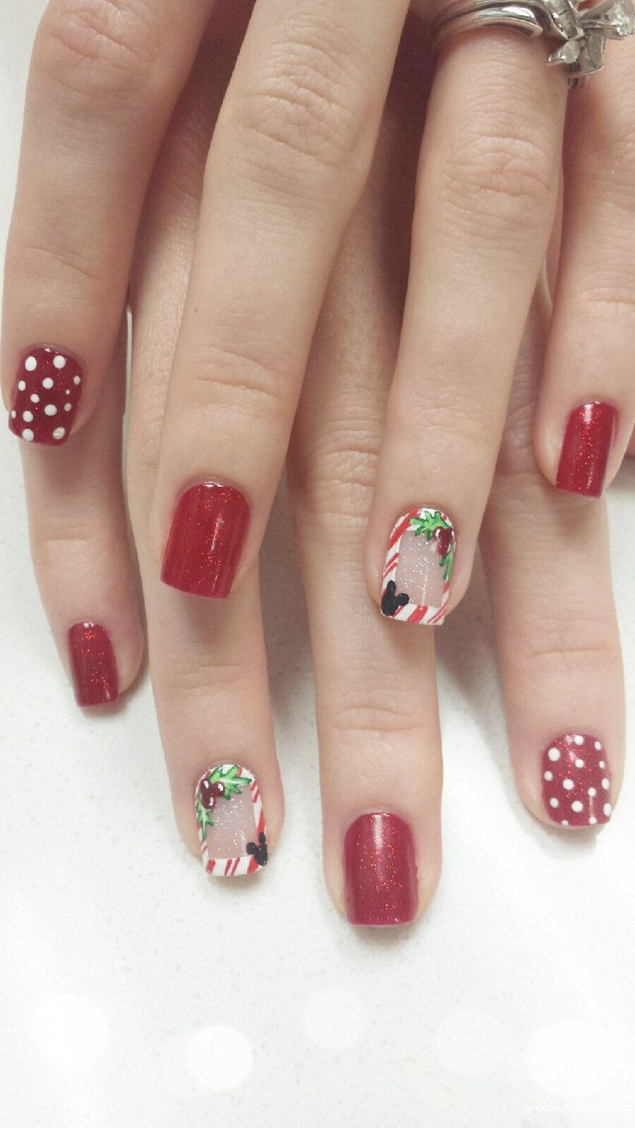 Disney nails for very merry Christmas party! | DISNEY | Pinterest ...
