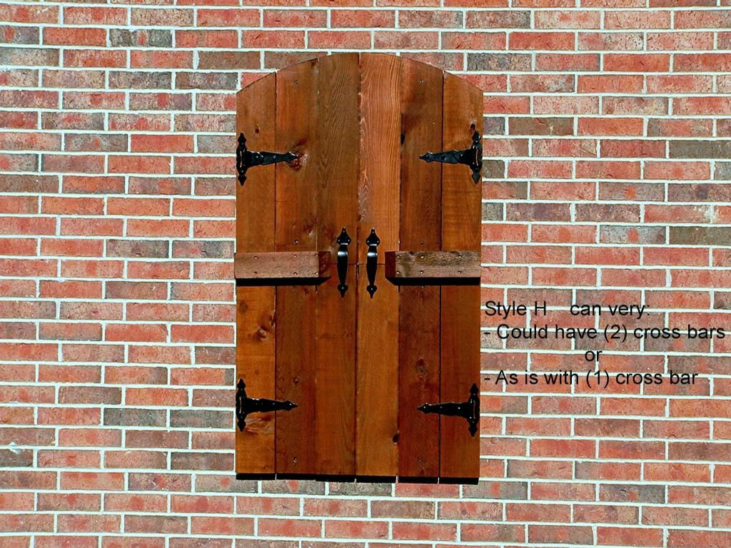 Bay window exterior shutters - Arched Batten Shutters Make Your Own H2 Hamm Shutters Son Llc Fort Outdoor Window Shutterswooden Shuttersexterior Shuttersbay