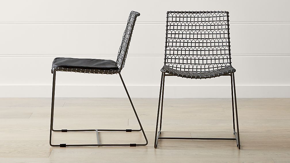 Tig Metal Dining Chair And Cushion Crate And Barrel Metal Dining Chairs Contemporary Dining Chairs Dining Chairs