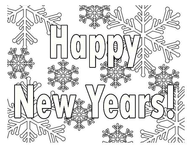 Happy New Year Coloring Pages 2019 for Kids, Toddlers