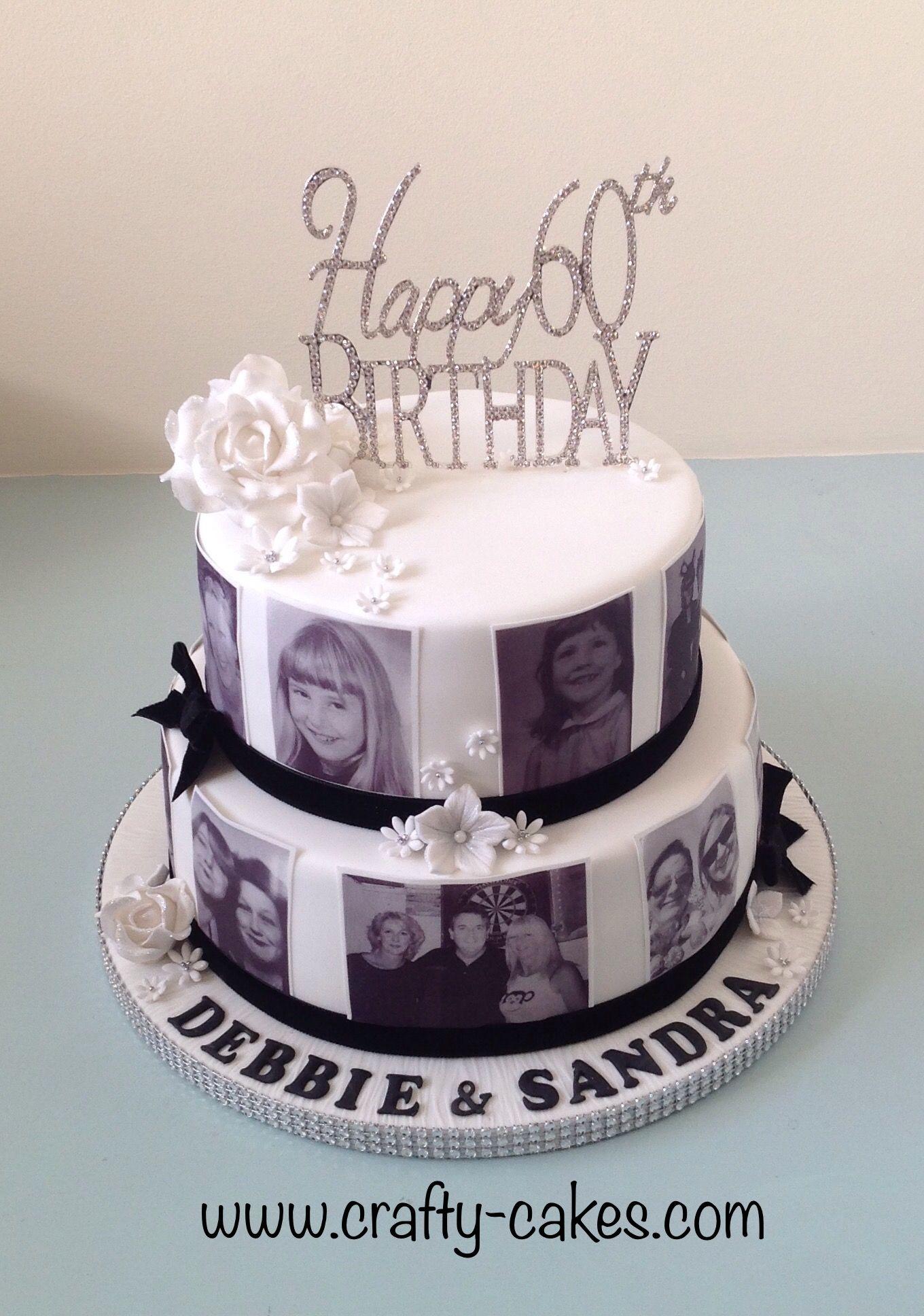 60th Birthday Cake With Edible Photos