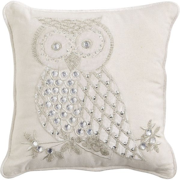 Pier 1 Imports Snow Owl Pillow Polyvore Owl Throw