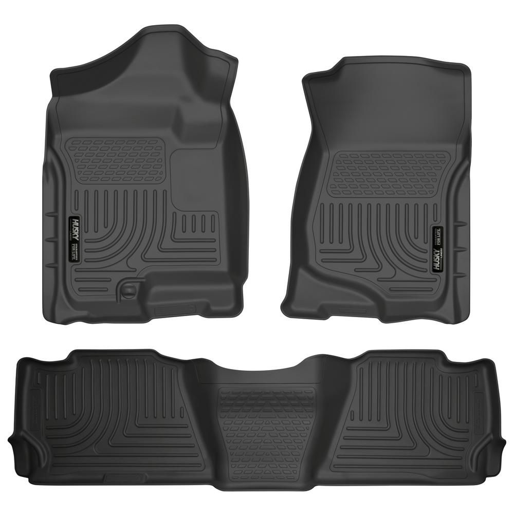 Husky Liners Front 2nd Seat Floor Liners Fits 07 14 Suburban 1500 Yukon Xl1500 98261 The Home Depot In 2020 Husky Liners Floor Liners Sierra 1500
