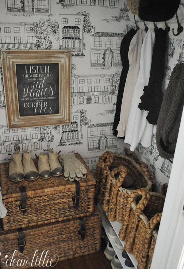 Dear Lillie: Our Entryway Closet-I love this coat closet!