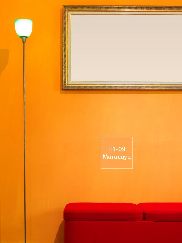 El naranja es un color incandescente que promueve la - Pintura naranja pared ...