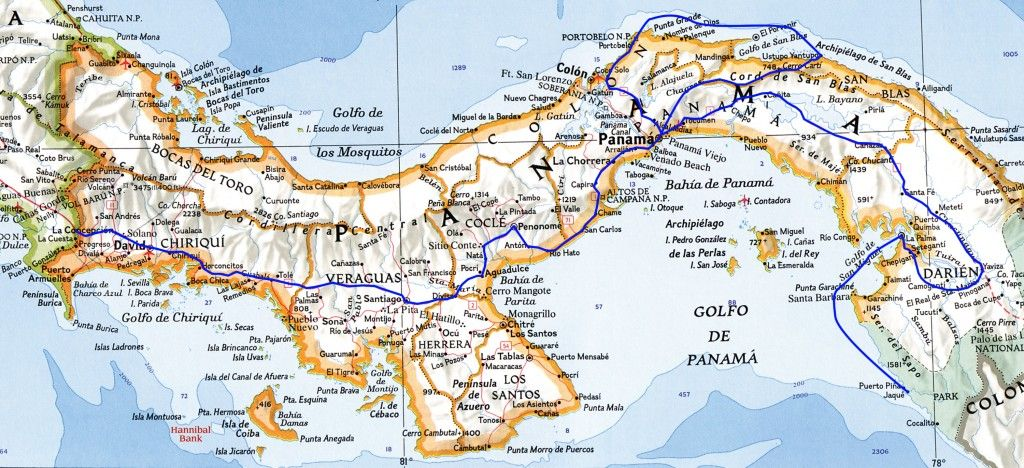 detailed map panama Large Detailed Road Map Panama Places to