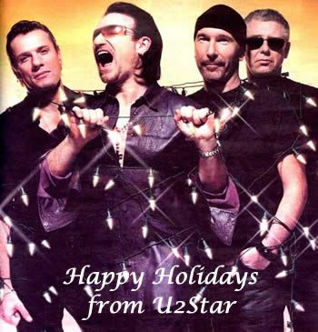 Happy holidays from u2 | U2 | Pinterest | Songs