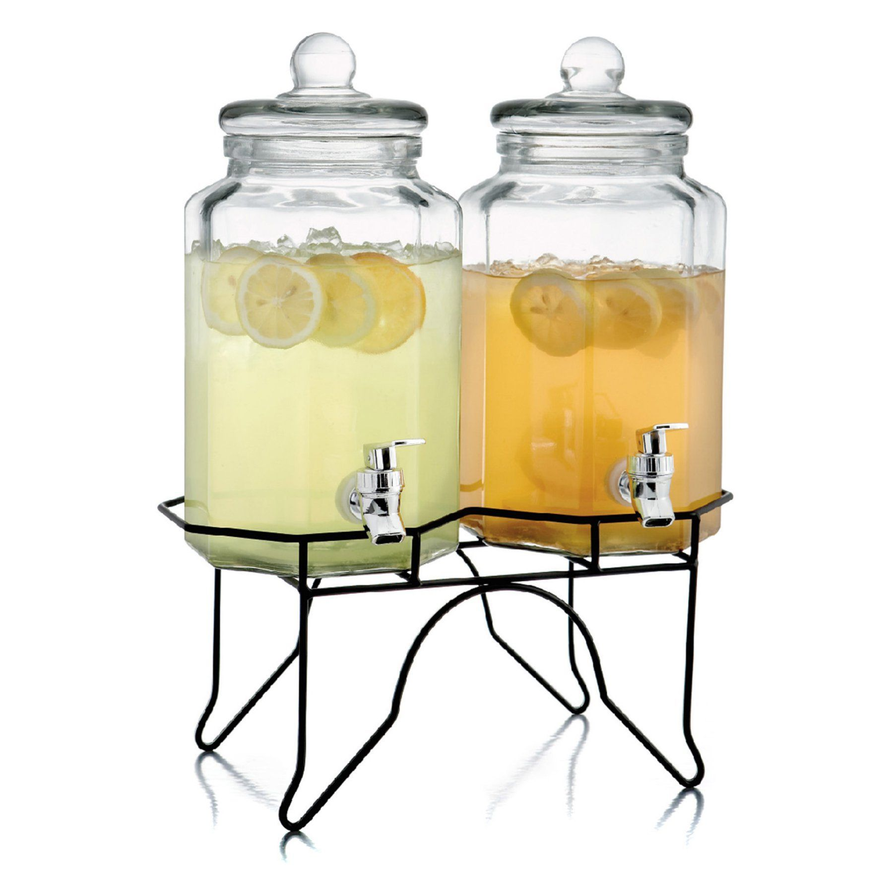 Style Setter Laredo Octagon Double Beverage Dispenser Set with Stand - 210927-GB