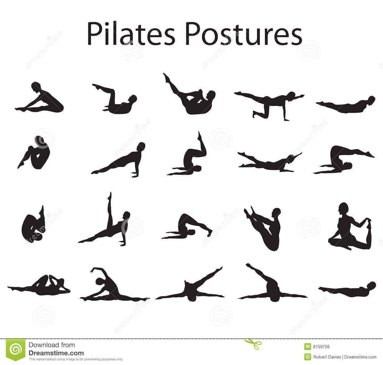 Pilates Pose Vector Pilates Stock Illustrations Vectors