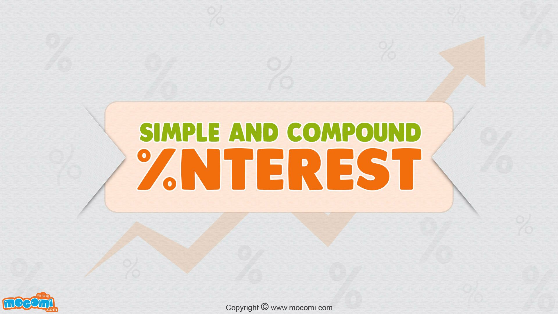 Simple Interest And Compound Interest Maths For Kids