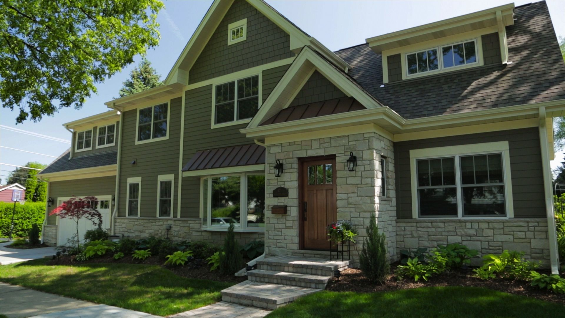 James Hardie Panel Shingle Stone Green Gray Arlington