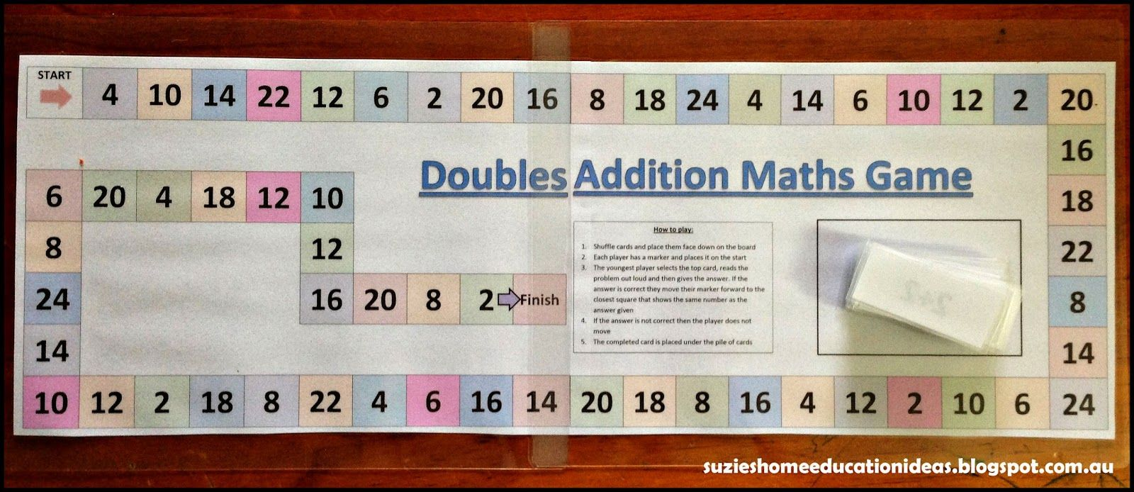 Printable - Addition Doubles Game | Double game, Free multiplication ...