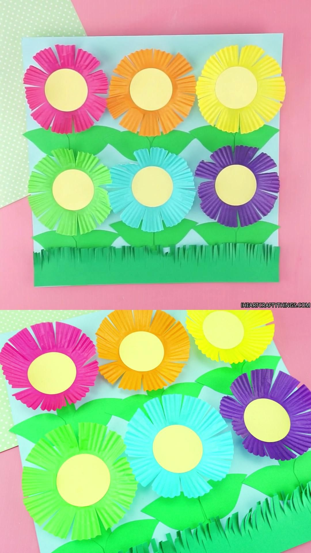 Easy Cupcake Liner Flowers Craft for Kids