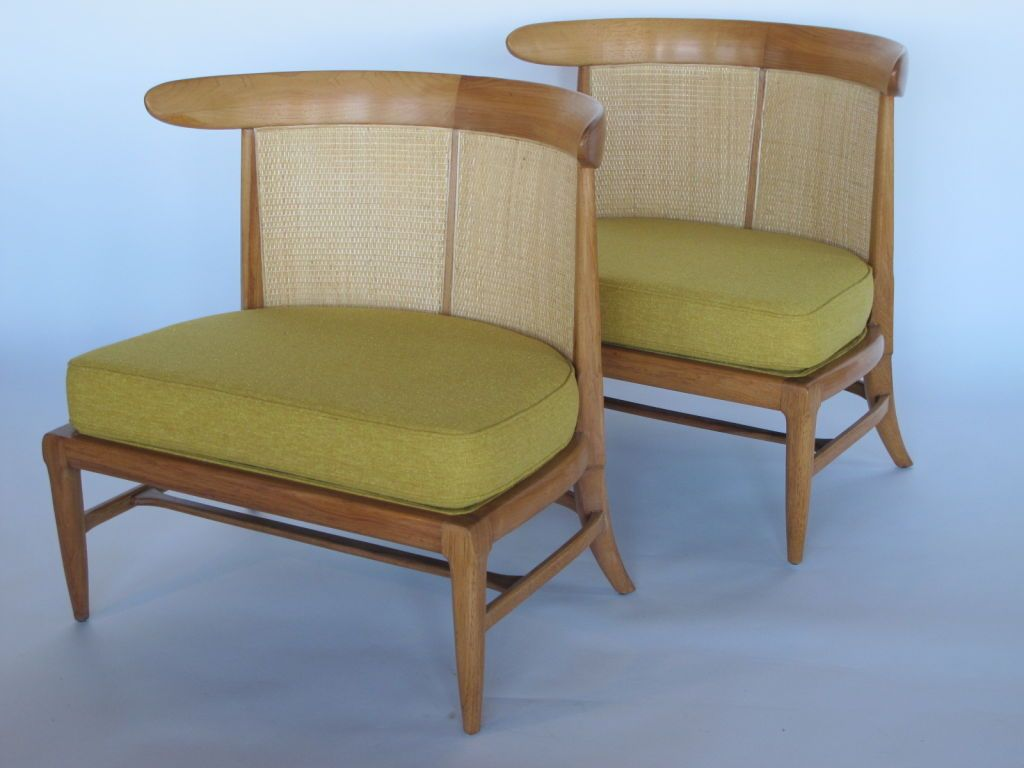 A set of four sophisticate slipper chairs by tomlinson from a unique collection
