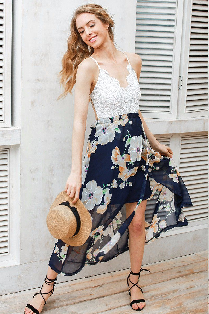 Deep v floral dress products pinterest products