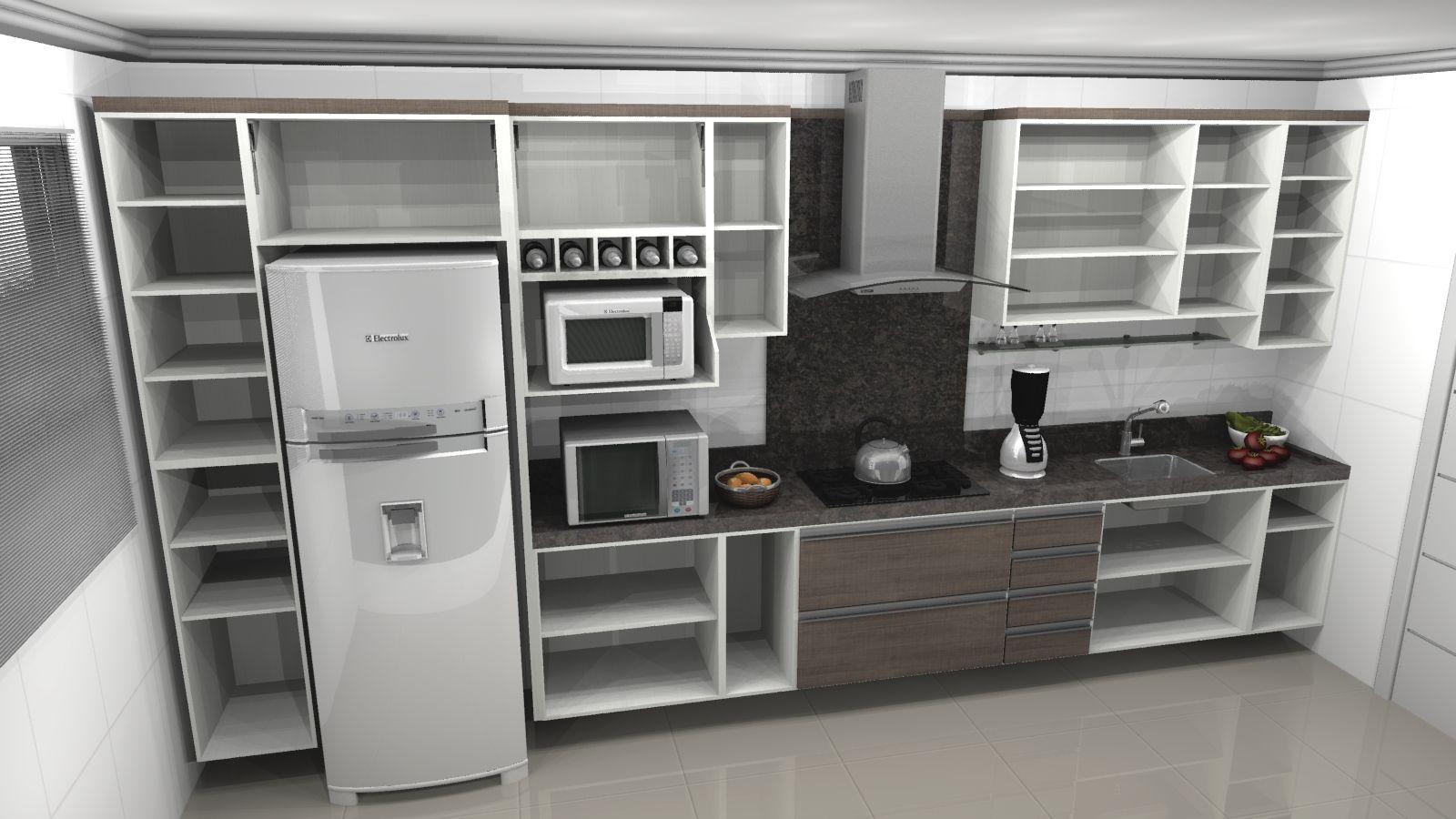 Cozinha Planejada Belissima Com Armarios Sofisticados Com Imagens