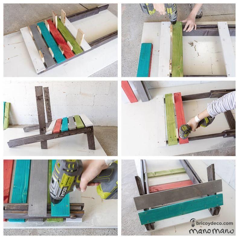 como hacer una silla plegable con palets