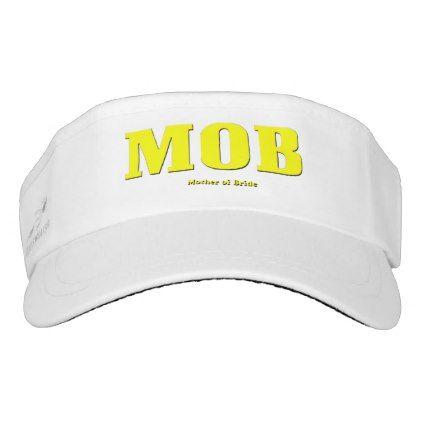 """#bride - #MOB """"Mother of Bride"""" Woven Visor White Visor"""