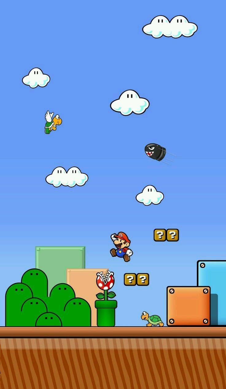 Super Mario Wallpapers Super Mario Bros Wallpapers For Mobile Phones Hd World Wallpaper Super Mario World Super Mario Games