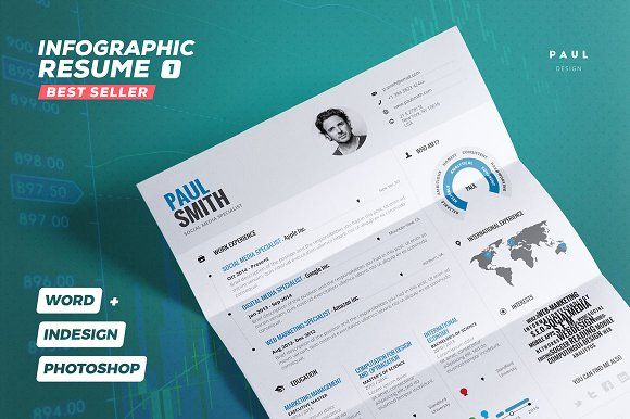 Infographic Resume/Cv Vol. 1 by TheResumeCreator on @creativemarket ...