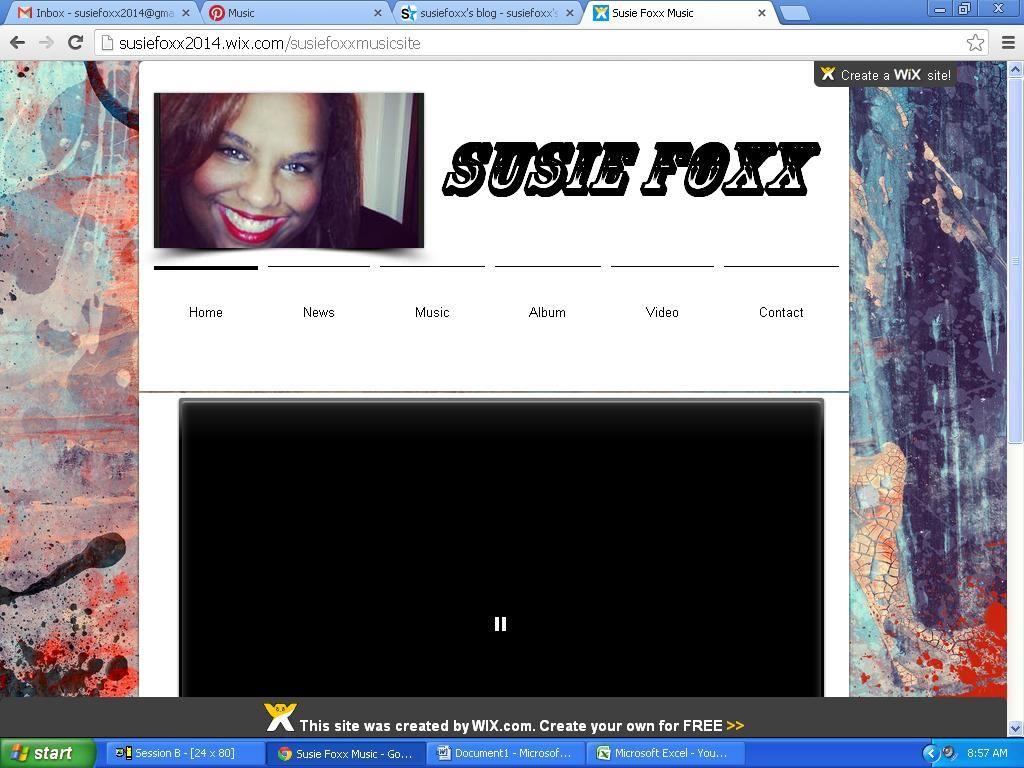 Susie Foxx Home Music Website @  http://susiefoxx2014.wix.com/susiefoxxmusicsite