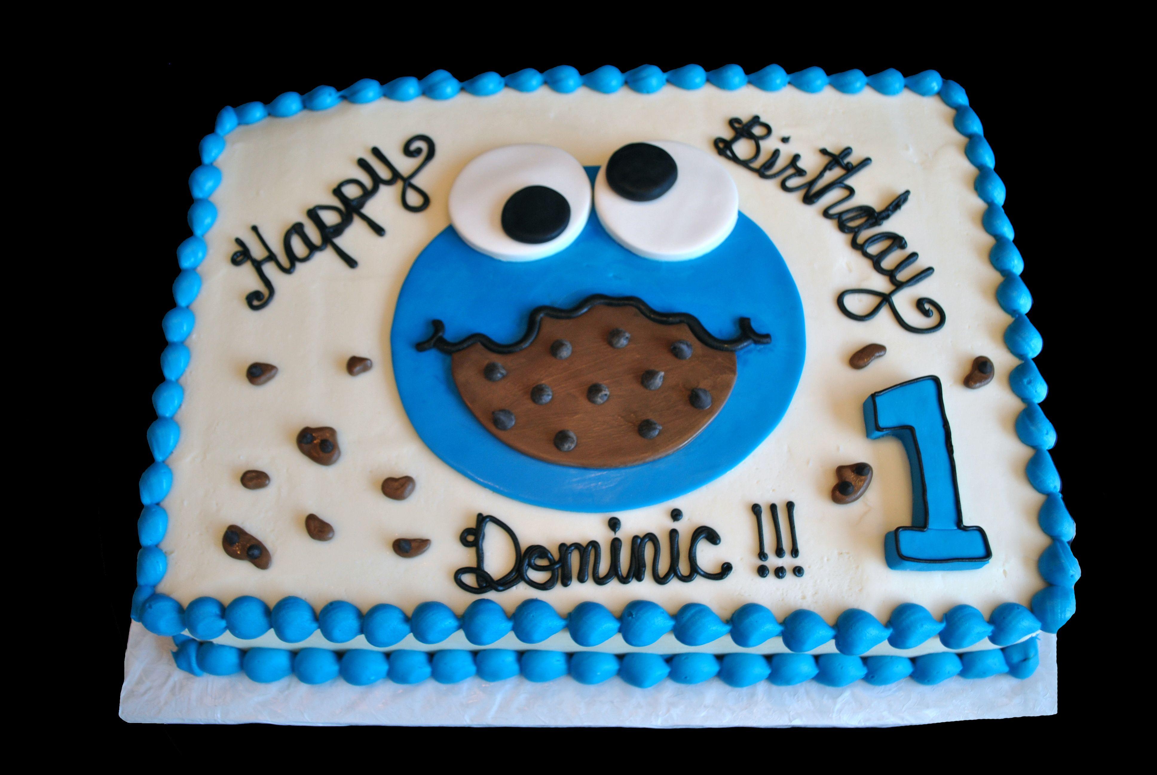 Cookie Monster Sheet Cake Sweetes Bakeshop Cake