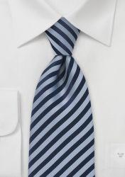 Lange Krawatte Streifenmuster nachtblau taubenblau günstig kaufen